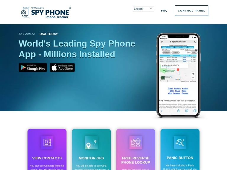 SpyFone screenshot