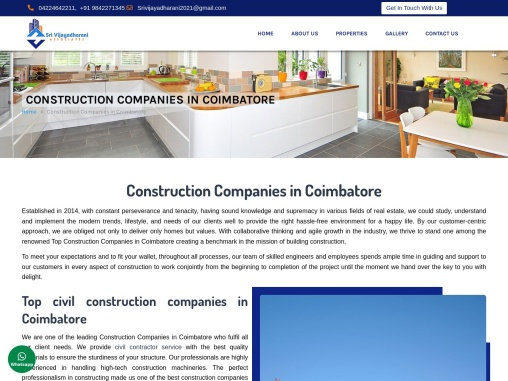 Construction Companies in Coimbatore