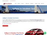 Jodhpur to Jaisalmer Taxi Service