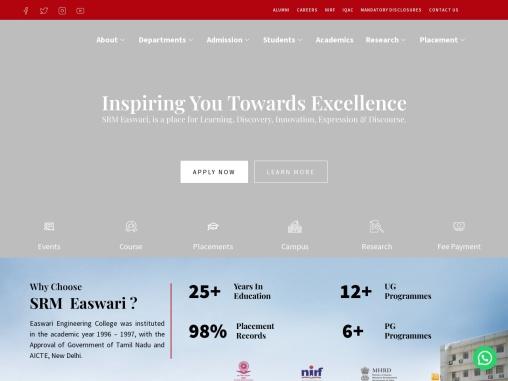 SRM Easwari Engineering College – Top Engineering College in Tamilnadu
