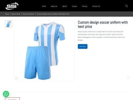 Custom design soccer uniform with best price