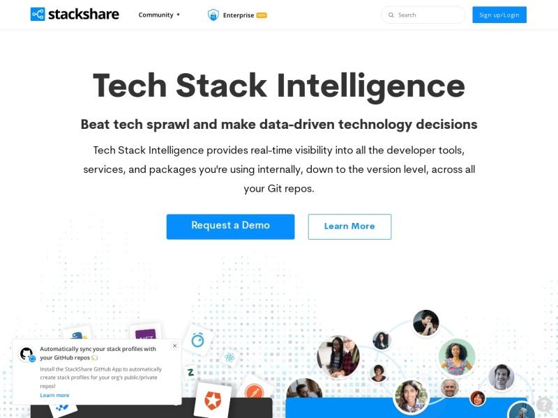 StackShare - 制作ツール(ソフトウェア・サービス)のトレンド・人気を調べられるサイト
