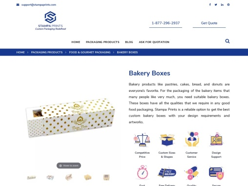 Bakery Boxes   Get Custom Printed Bakery Boxes Wholesale