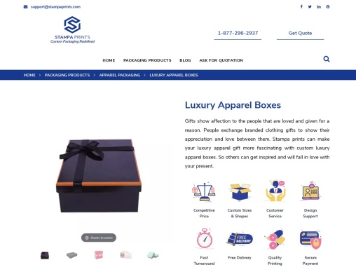 Luxury Apparel Boxes   Get Custom Luxury Apparel Gift Boxes