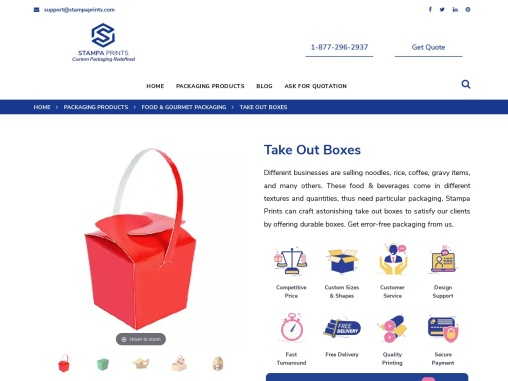 Take Out Boxes   Advertise Your Brand with Our Packaging