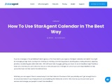 How To Use StarAgent Calendar In The Best Way