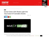 INVEST GREEN USA SHEDS LIGHT INTO THE FUTURE OF CANNABIS STOCKS