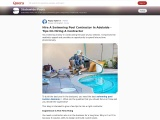 Hire A Swimming Pool Contractor In Adelaide – Tips On Hiring A Contractor