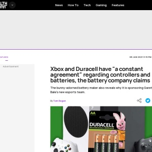 "Xbox and Duracell have ""a constant agreement"" regarding controllers and batteries, the battery company claims 