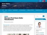 Biomass Fired Steam Boiler Manufacturer