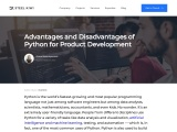Advantages and Disadvantages of Python for Product Development