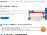 Considerations To Make When Selecting A 25 Ton Gantry Crane