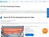 How To Get An Efficient 75 Ton Overhead Crane For Your Industry