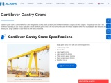 Functions Of Cantilever Gantry Crane