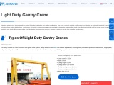 Learning More About The Applications Of A Light-Duty Gantry Crane