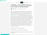 5 Mistakes To Avoid When Starting Your Career As A Data Analyst