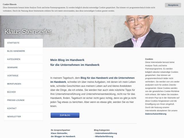 Klaus Steinseifer – Blog für das Handwerk und die Unternehmen im Handwerk