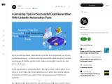 4 Amazing Tips For Successful Lead Generation With LinkedIn Automation Tools
