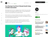 How Startups Can Drive A Steady Growth Using LinkedIn Automation