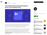 Top LinkedIn Sales Prospecting Strategies to Never Let Your Pipeline Go Dry