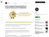 What is Targeted Prospecting, Why Is It Important & How to Do It the Right Way