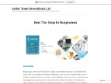Best Tile Shop In Bangladesh-Sarker Trade International Ltd