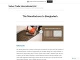 Tile Manufacturer In Bangladesh