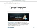 Recycling Eco Friendly Jute Bags Manufacturers in Bangladesh