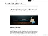 Custom jute bag supplier in Bangladesh