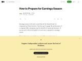 How to Prepare for Earnings Season