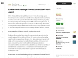 It's the stock earnings Season Around the Corner Again!
