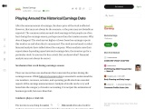 Playing Around the Historical Earnings Date