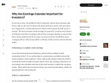 Why Are Earnings Calendar Important for Investors?