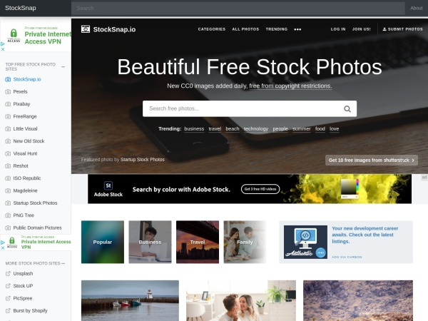 Stocks snap - 15 Free Website for Quality Free Copyright Images 2020