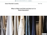 What is Wash and Fold and How to it in Stone Mountain?