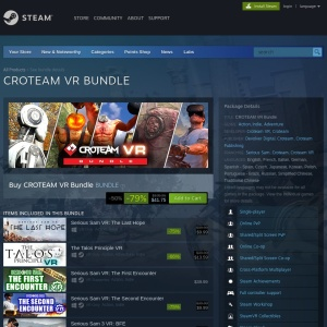 CROTEAM VR Bundle on Steam