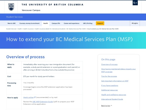 How to extend your BC Medical Services Plan (MSP) Get helpful tips for extending your BC Medical Services Plan (MSP).