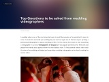 Top Questions to be asked from wedding videographers