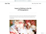 Impact of Editing in the life of Photographers