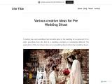 Various creative Ideas for Pre Wedding Shoot