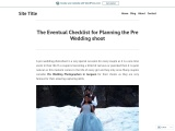 The Eventual Checklist for Planning the Pre Wedding shoot