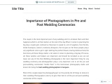 Importance of Photographers in Pre and Post Wedding Ceremonies