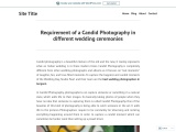 Requirement of a Candid Photography in different wedding ceremonies