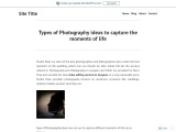 Types of Photography ideas to capture the moments of life