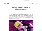 How to plan a music video as an Independent Artist?