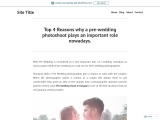 Top 4 Reasons why a pre-wedding photoshoot plays an important role nowadays.