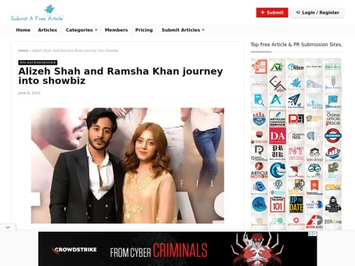 Alizeh Shah and Ramsha Khan journey into showbiz