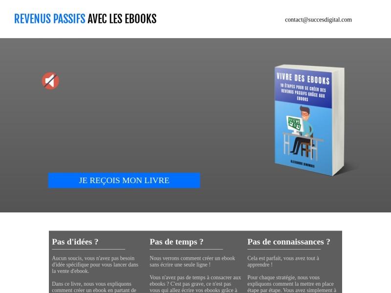 revenus passifs grace aux ebooks