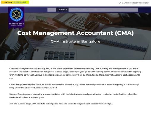 CMA course in Bangalore | CMA coaching in Bangalore