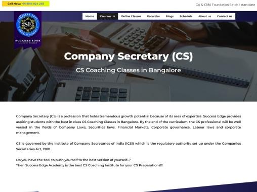 Company Secretary Course in Bangalore | CS Coaching Class